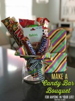 Make a Candy Bar Bouquet – the perfect gift for ANYONE in your life!