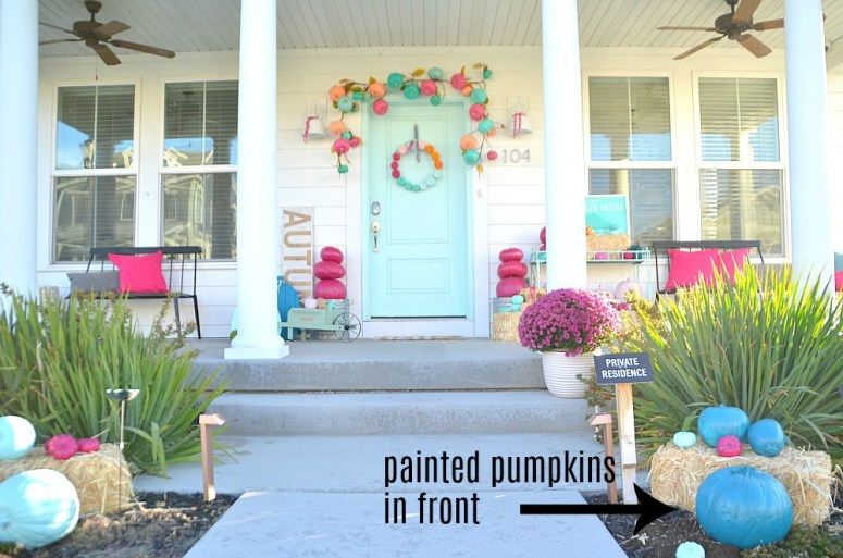 Colorful Fall and Halloween Porch Ideas. Create a whimsical porch for your home!