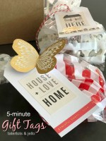 5-Minute Gift Tags – using a Sticker Book!