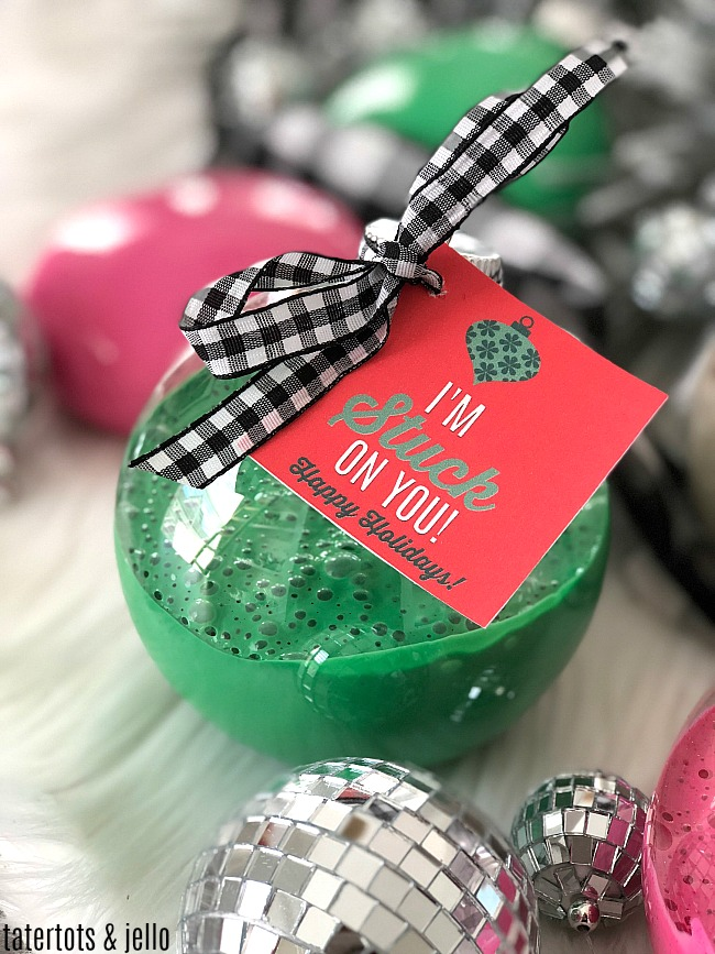 Slime Holiday Ornament Gift Idea for Kids and Tweens!