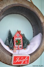 Galvanized Farmhouse Holiday Wreath
