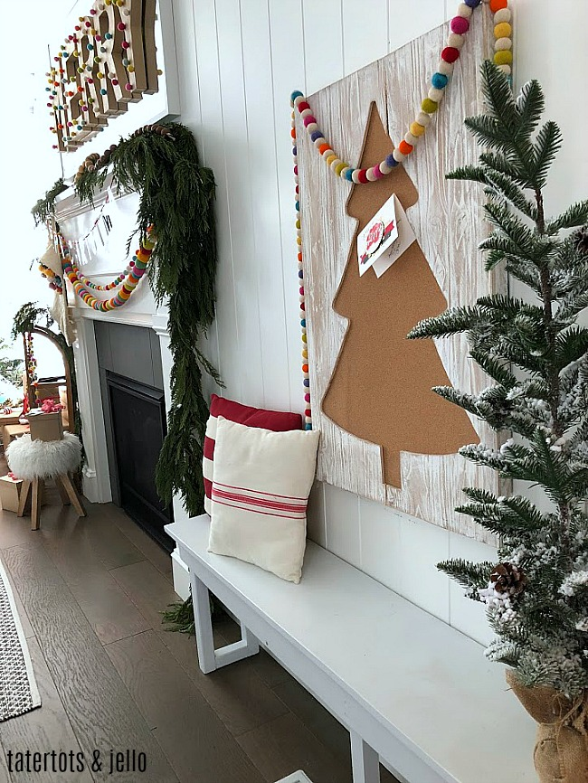 Merry pom pom holiday home tour - being color and whimsical ideas to your holiday home!