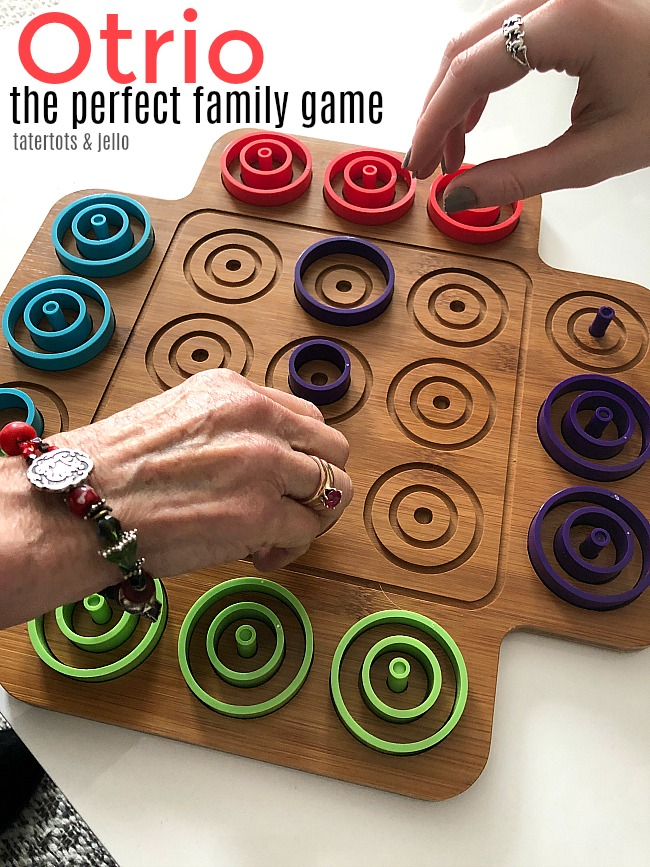 The Perfect Family Game - Otrio. Otrio combines critical -thinking, tactile play and strategy into a fast-paced exciting game for all!