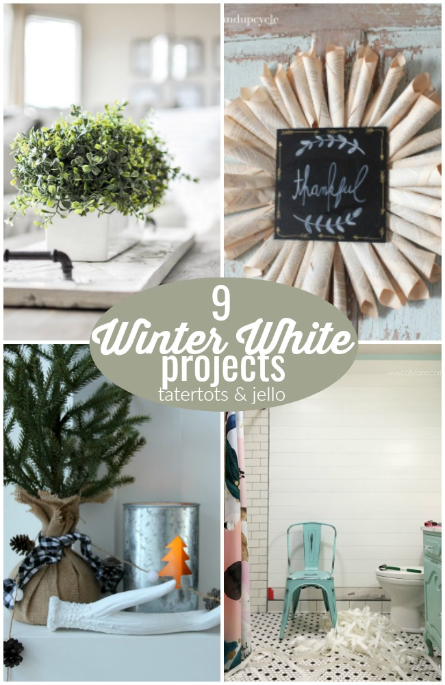 9 Winter White Projects!