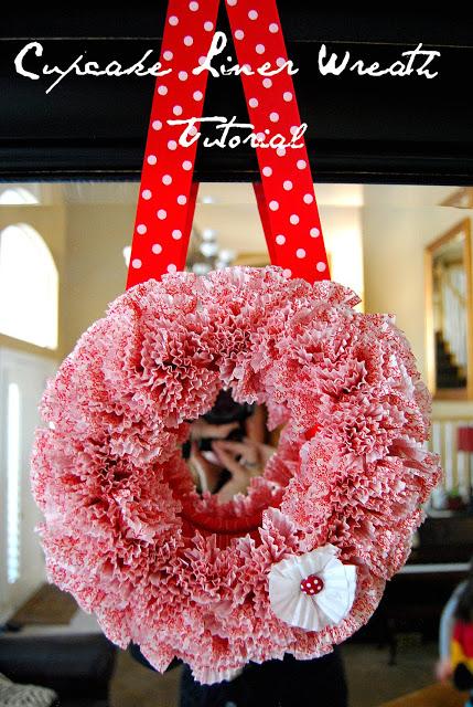 Dollar Store Valentine's Day Cupcake Liner Wreath