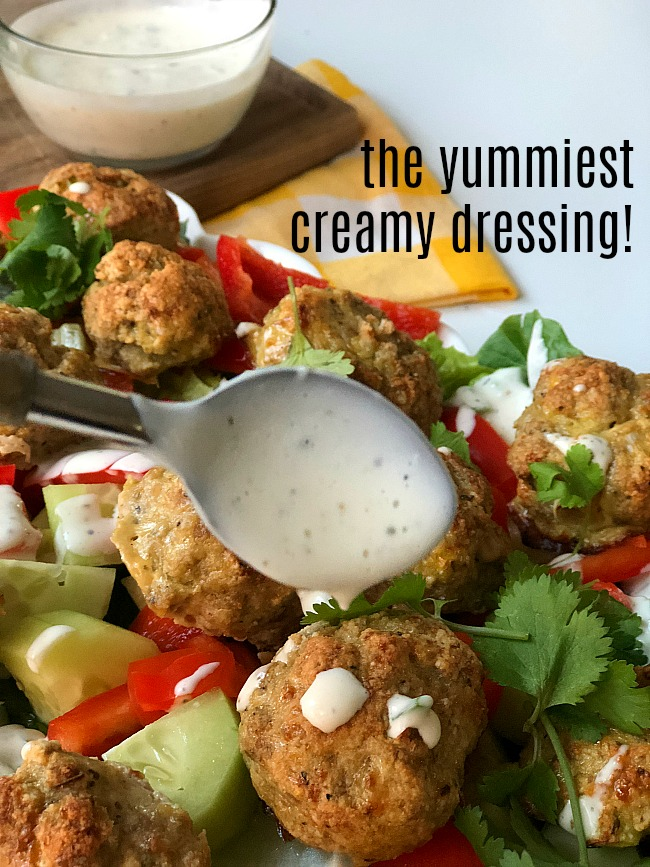 Whole 30 Homemade Creamy Dressing - it's wonderful on almost anything and whole-3-compliant!