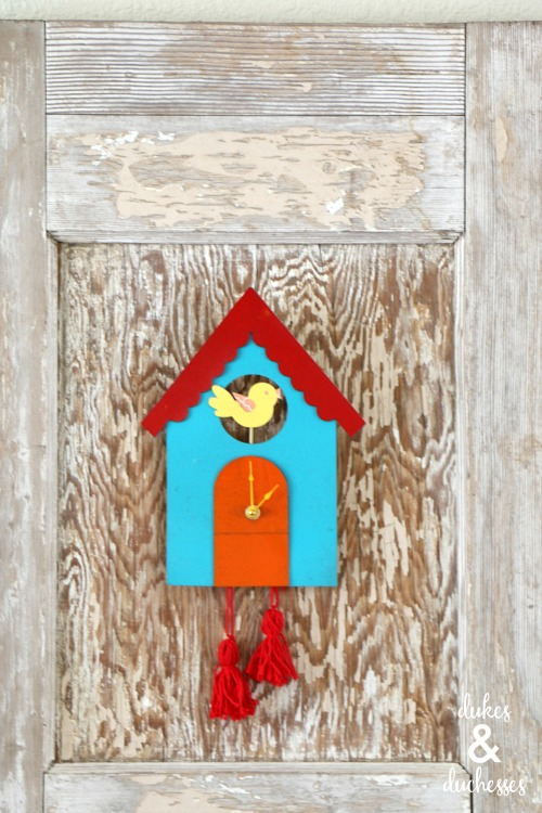 upcycled cuckoo clock project