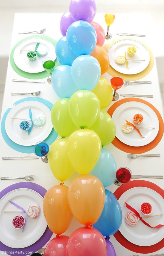 colorful spring balloon garland
