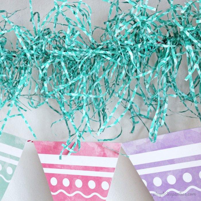 free spring printable garland