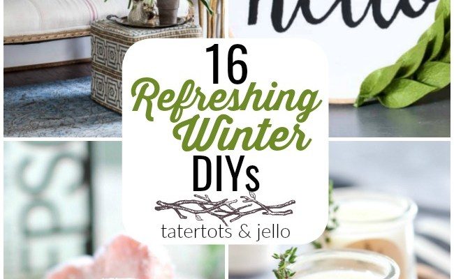 Great Ideas — 16 Refreshing Winter DIYs!