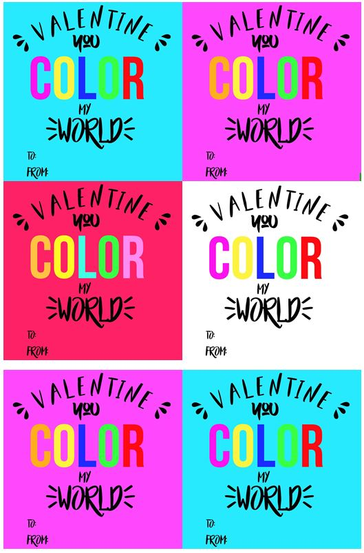 printable colorable valentine tags
