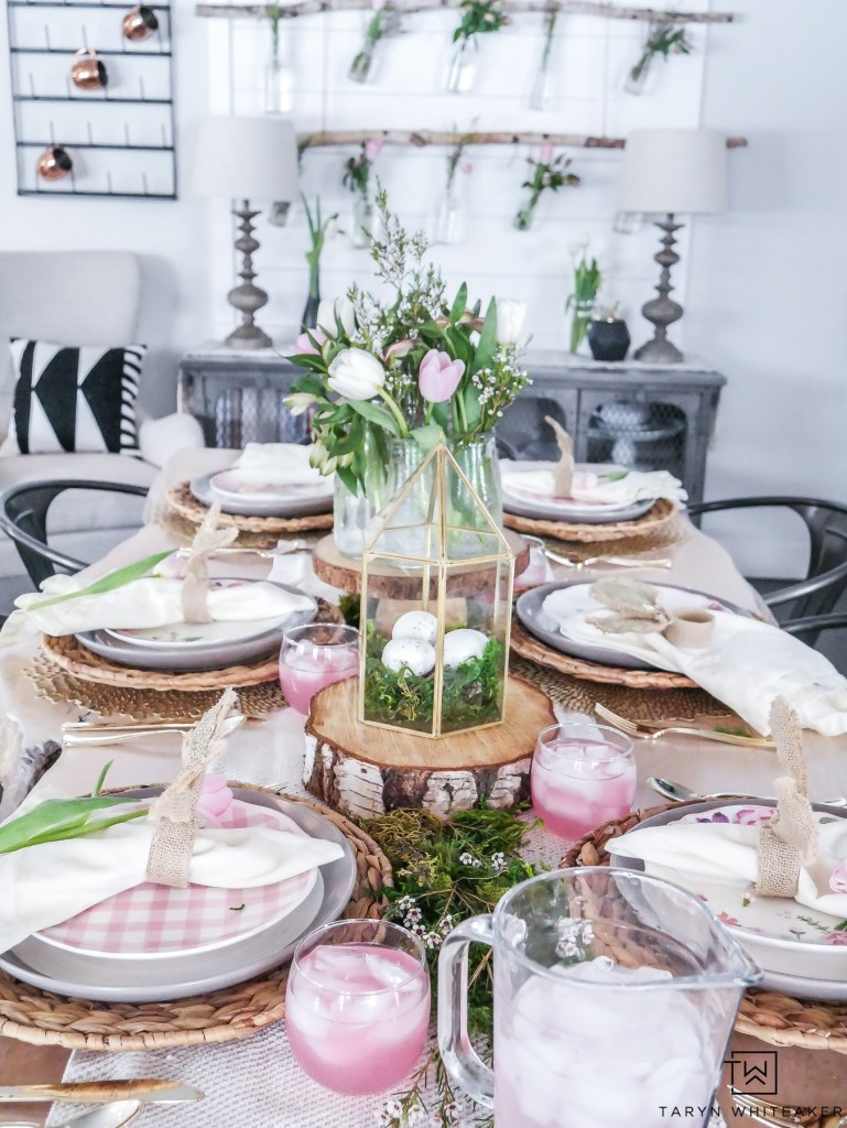 farmhouse spring tablescape