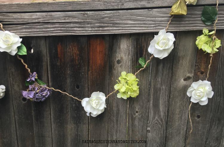farmhouse spring flower garland