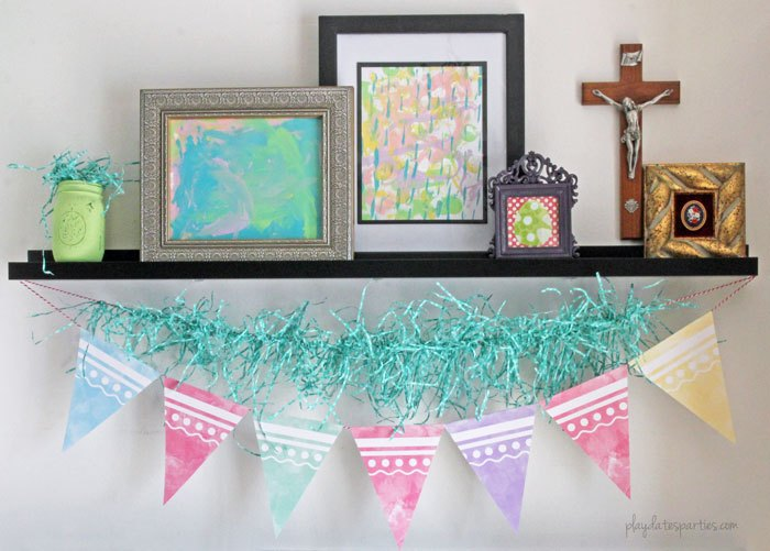 printable farmhouse easter garland
