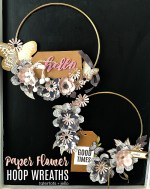 Make Hoop Paper Flower Wreaths – modern and so pretty!