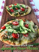 Naan Avocado Mini Pizzas – the perfect after-school snack!