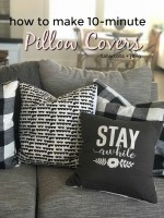 How to Make 10-Minute Pillow Covers for Spring!