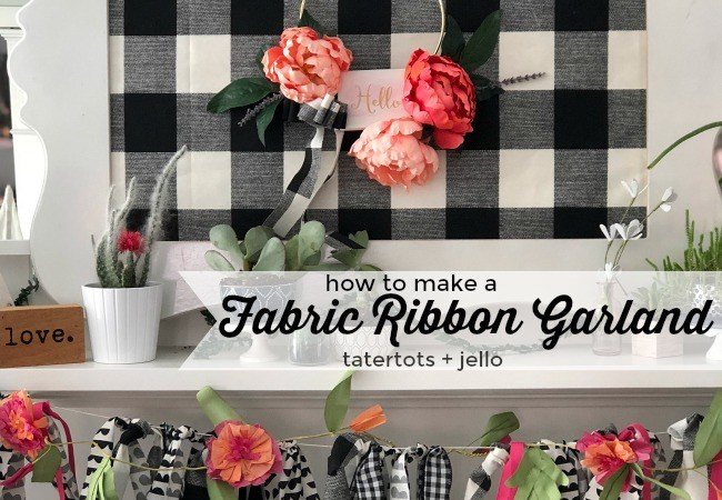 How to Make a Buffalo Check Fabric Ribbon Garland!
