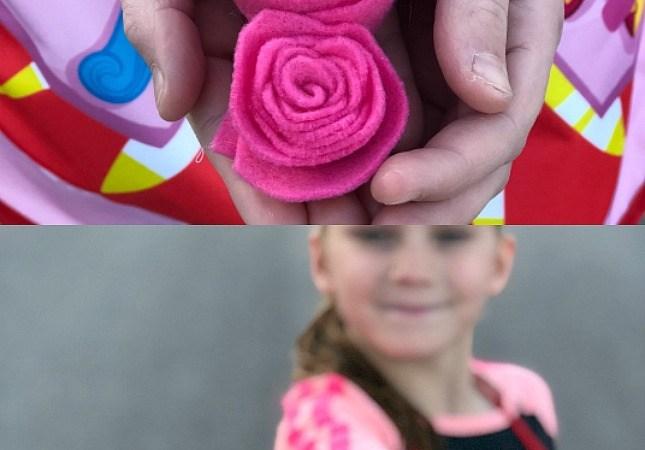 Kids Felt Flower Hair Clips tutorial