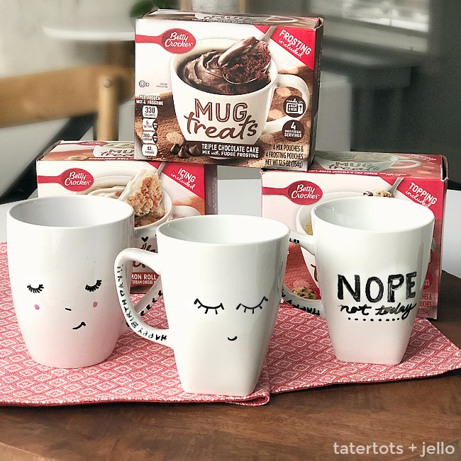 how to make sharpie cake mugs