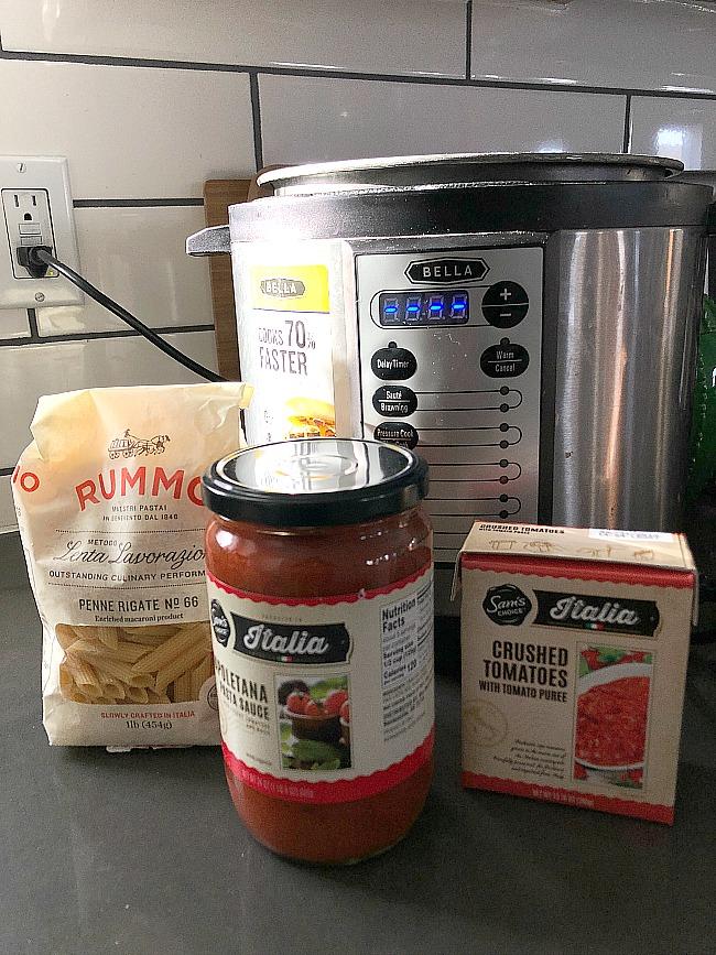 instant pot easy basil penne pasta dinner  lastminute