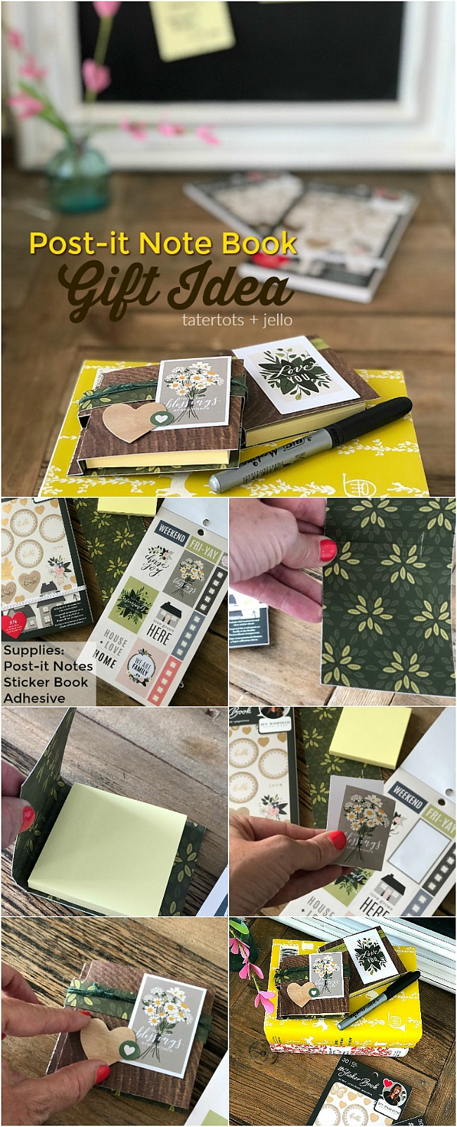 Create a Post-it Note book using sticker books! Sticker books have more than 900 handy and beautiful stickers that are great for making all kinds of projects!