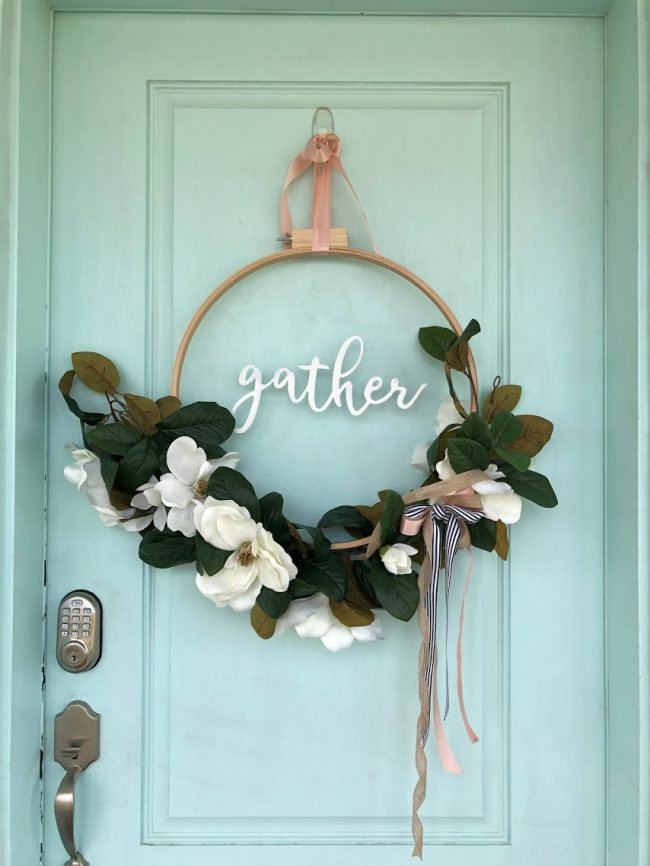 DIY Embroidery Hoop Wreath Summer tutorial