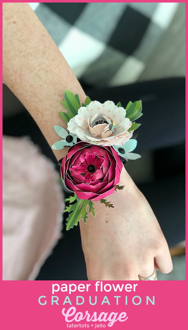 Make a paper flower corsage for graduation mothers day or birthdays corsages are so beautiful the downside is fresh flower corsages wither and die instead mightylinksfo