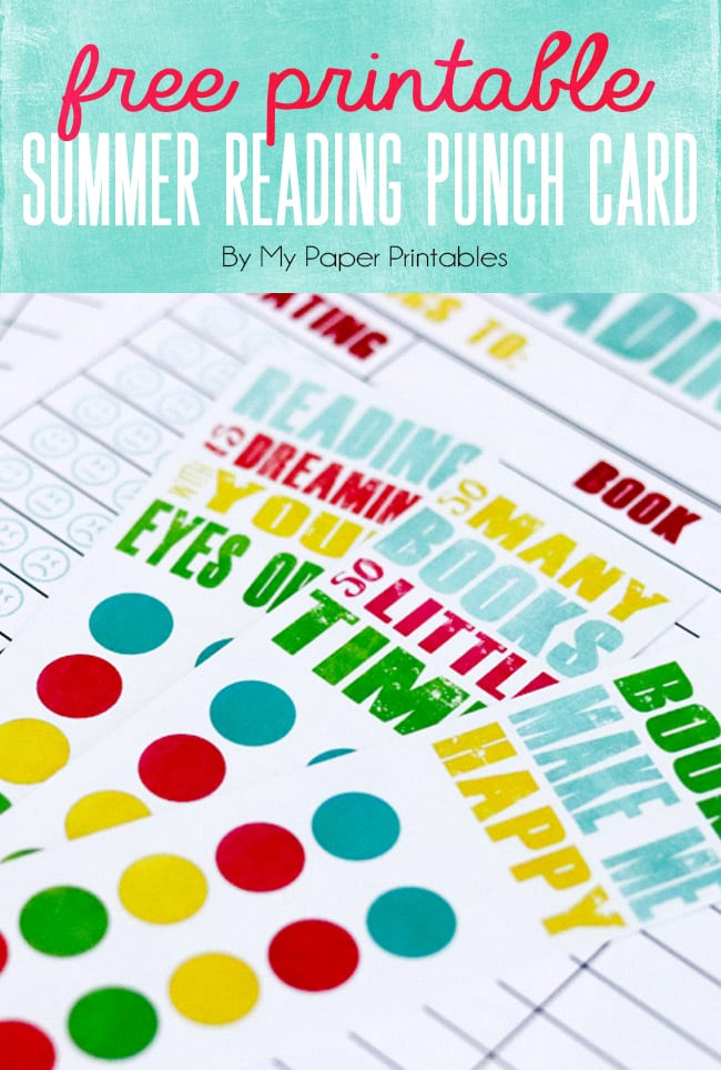 With summer's arrival kids will have some extra time on there hands, why not fill it with a little library time? Let's encourage our kids to read more this summer and to track their summer reading with our adorable printable reading log and punch card.