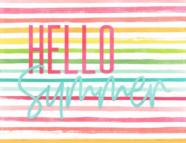 hello summer striped sign for summer