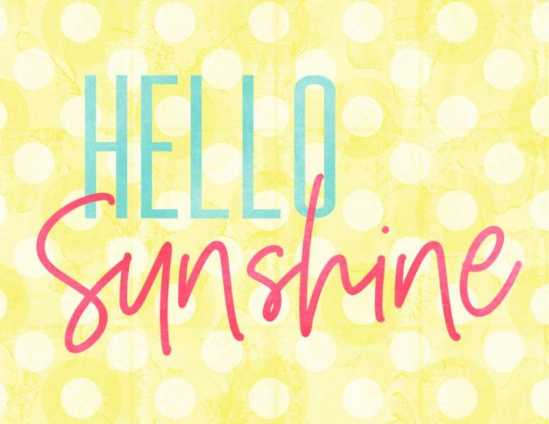 hello sunshine free printable sign for summer