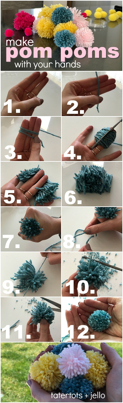 How to make beaded boho pom pom tassels. Make a tassel for a shelf, a doorknob, embellish a present or a picnic basket. You can make pom poms with yarn and your hands. A beaded boho tassel also makes a wonderful gift idea!