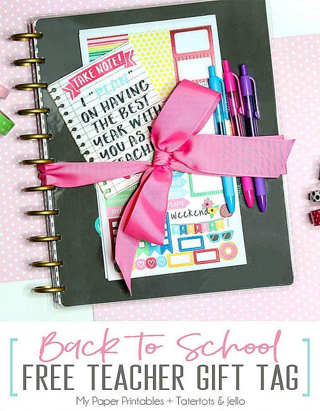 Back to School DIY Teacher Gift Tags