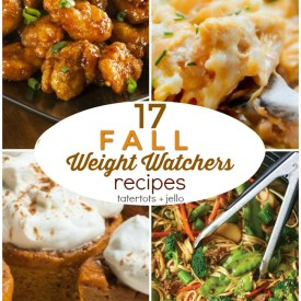 17 Fall Weight Watchers Recipes! You can eat all of your favorite foods and still stay on Weight Watchers. Stay on track and still enjoy delicious food.