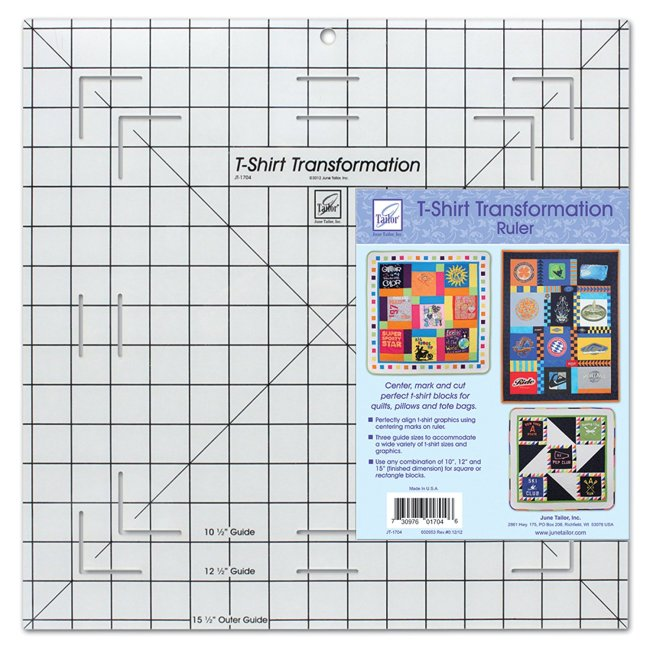 How to Make a T-Shirt Quilt! plastic t shirt template so your shirts are all the same size for a t shirt quilt