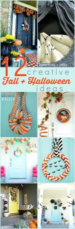 12 Creative Fall and Halloween Ideas – easy ways to dress up your home!