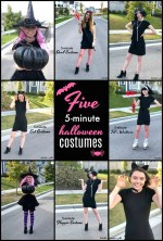 FIVE 5-Minute Simple Halloween Costumes with 1 Little Black Dress!