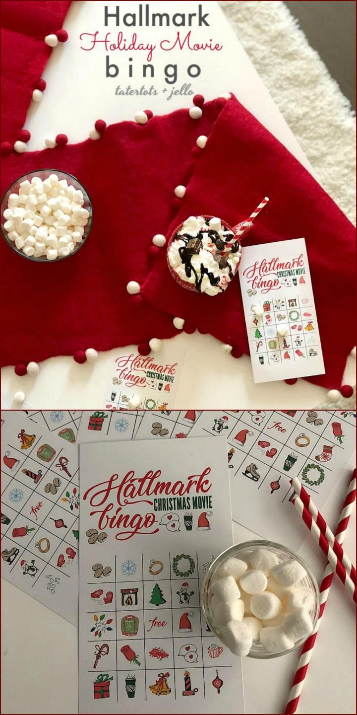 photograph regarding Holiday Bingo Printable titled Totally free Printable Hallmark Channel Vacation BINGO Video game Playing cards
