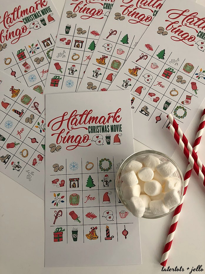 Free printable Hallmark Channel Holiday BINGO Game! Print off these printable BINGO cards and play with your friends and family while you watch holiday movies this year.