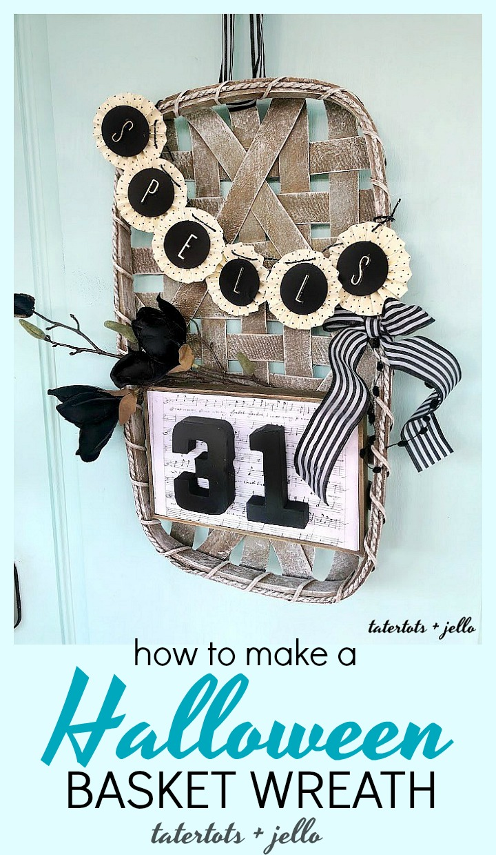 Make a Halloween Basket Witch Wreath