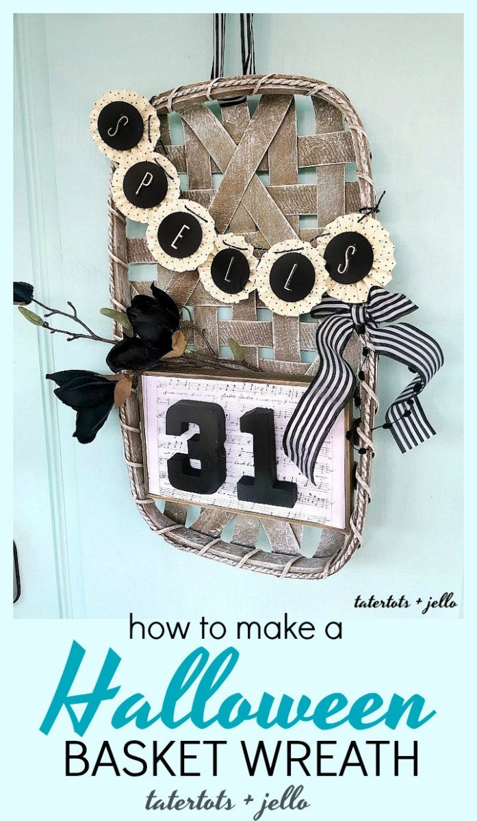 Make a Halloween Basket Witch Wreath