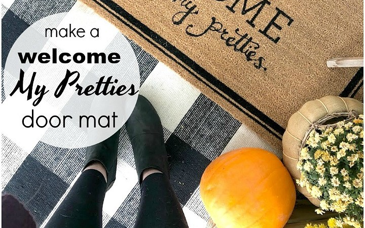 How to Make a Welcome My Pretties Painted Halloween Rug