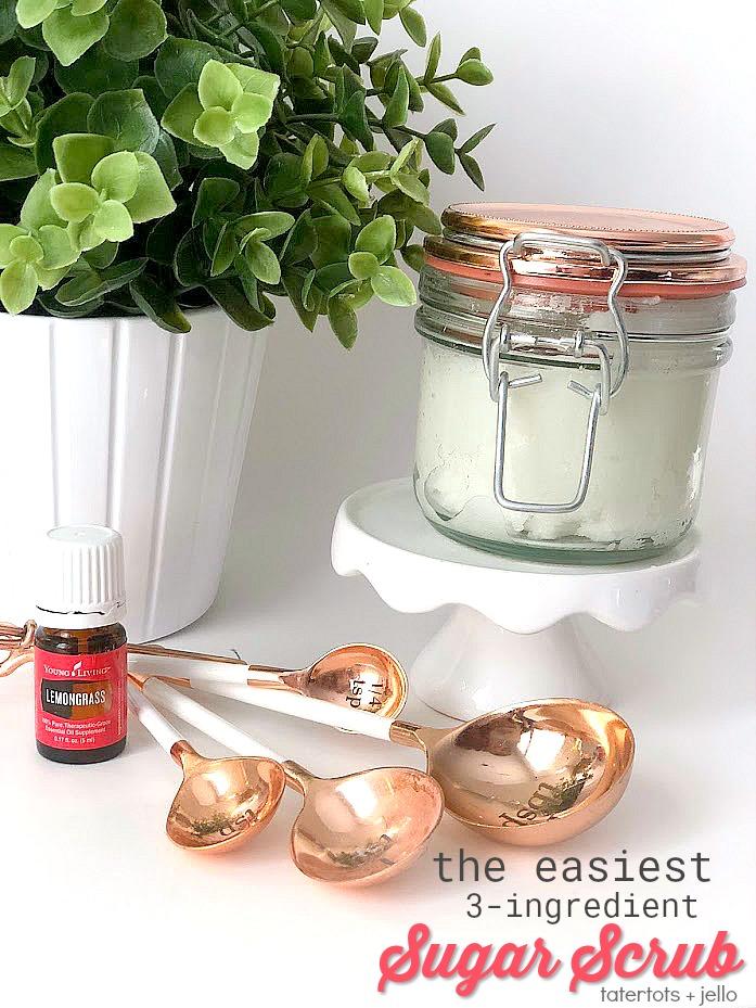 The EASIEST 3 Ingredient Sugar Scrub Recipe!