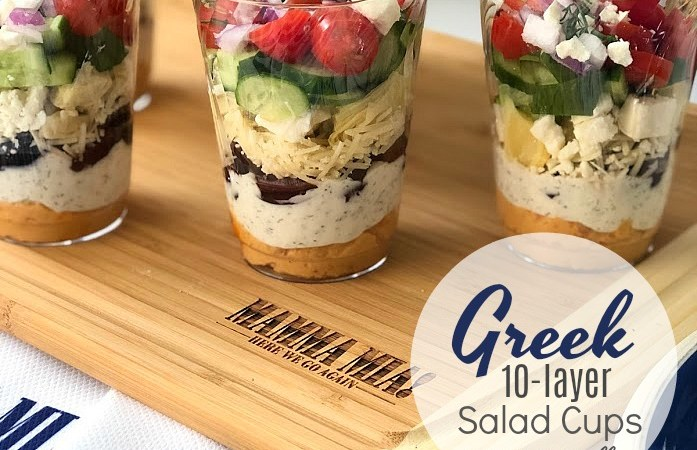 Greek 10-Layer Salad Mini Cups!