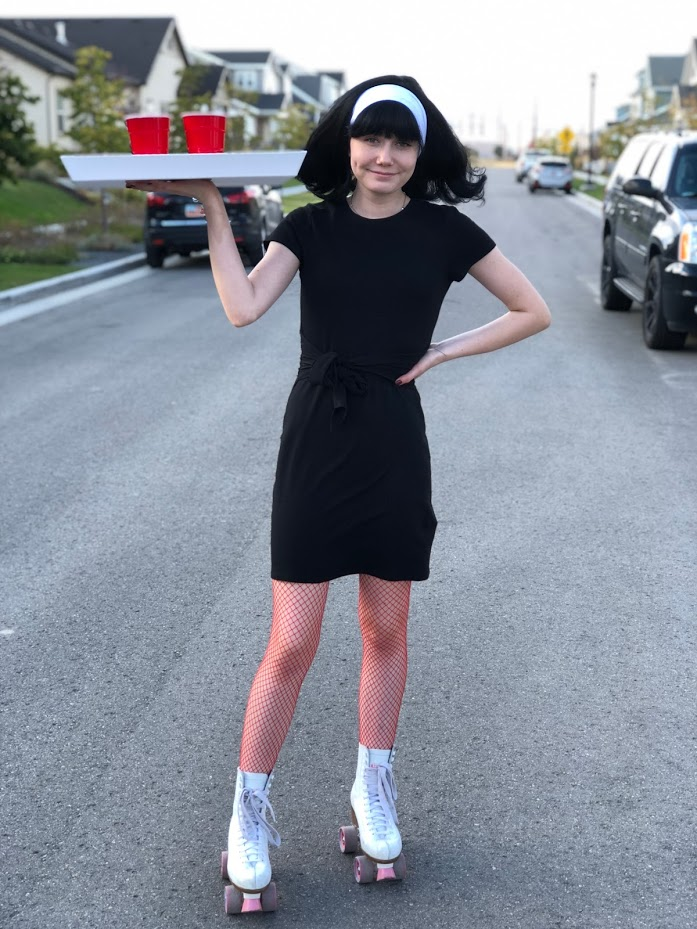Five 5 Minute Simple Halloween Costumes With 1 Little Black Dress