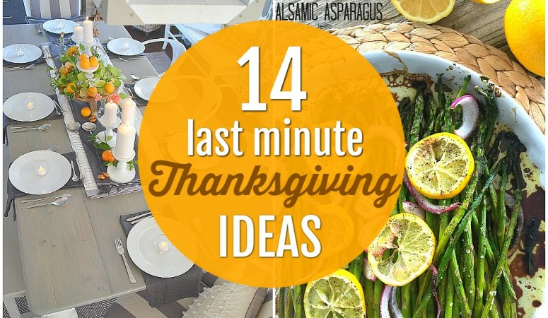 14 Last Minute Thanksgiving Ideas