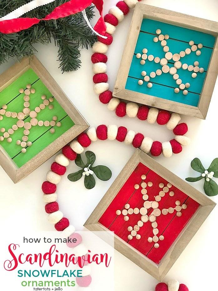 Scandinavian Snowflake Ornaments Tutorial