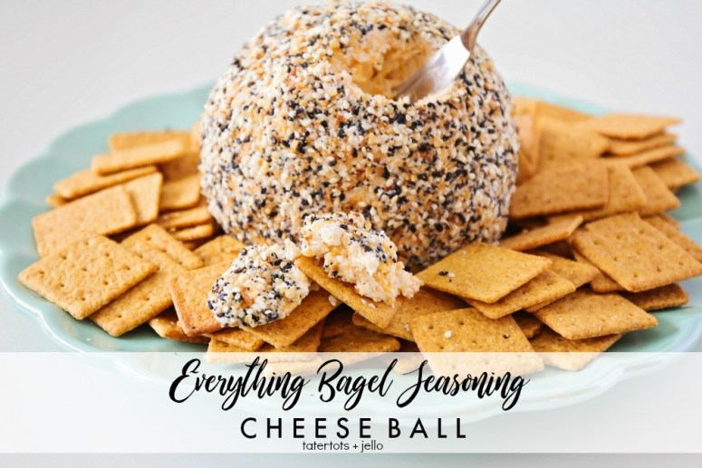 Everything Bagel Seasoning Cheeseball Recipe - perfect for the holidays! Soft and flavorful on the inside and crunchy and nutty on the outside. We took grand,ma's classic cheeseball recipe and added a crunchy and zesty twist!
