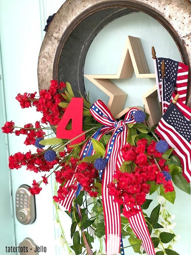 fourth of july galvanized flag wreath