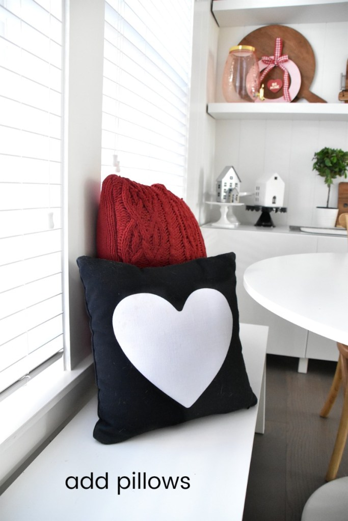 Modern Farmhouse Valentines Kitchen Nook. Four Ways to Create a Modern Farmhouse Eating Nook. Turn a corner of your kitchen into a cozy nook and add some simple touches to celebrate Valentine's Day!